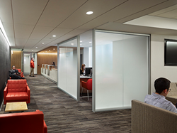Ultra-White Fade® Laminated Glass in the NYU Langone Medical Center's Preston Robert Tisch Center for Men's Health.