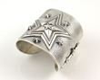 Star Cuff With Engraving by Cody Sanderson