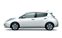 The Nissan Leaf is available to hire through Green Motion