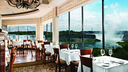 The Rainbow Room by Massimo Capra offers spectacular fine-dining experiences directly overlooking the beautiful Niagara Falls.