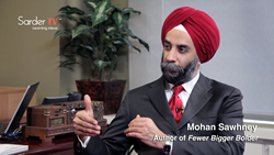 Globally Recognized Scholar & Author Mohanbir Sawhney Explains the Theories Behind his Book Fewer Bigger Bolder in Sarder TV Interview