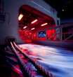 The National Flight Academy's state-of-the-art simulated aircraft carrier, Ambition.