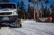 WordenGroup's new upscale tour company client Wildlife Expeditions has created a custom Mercedes snowcoach for their new Yellowstone winter wildlife day-trip safaris (photo by Jay Goodrich).