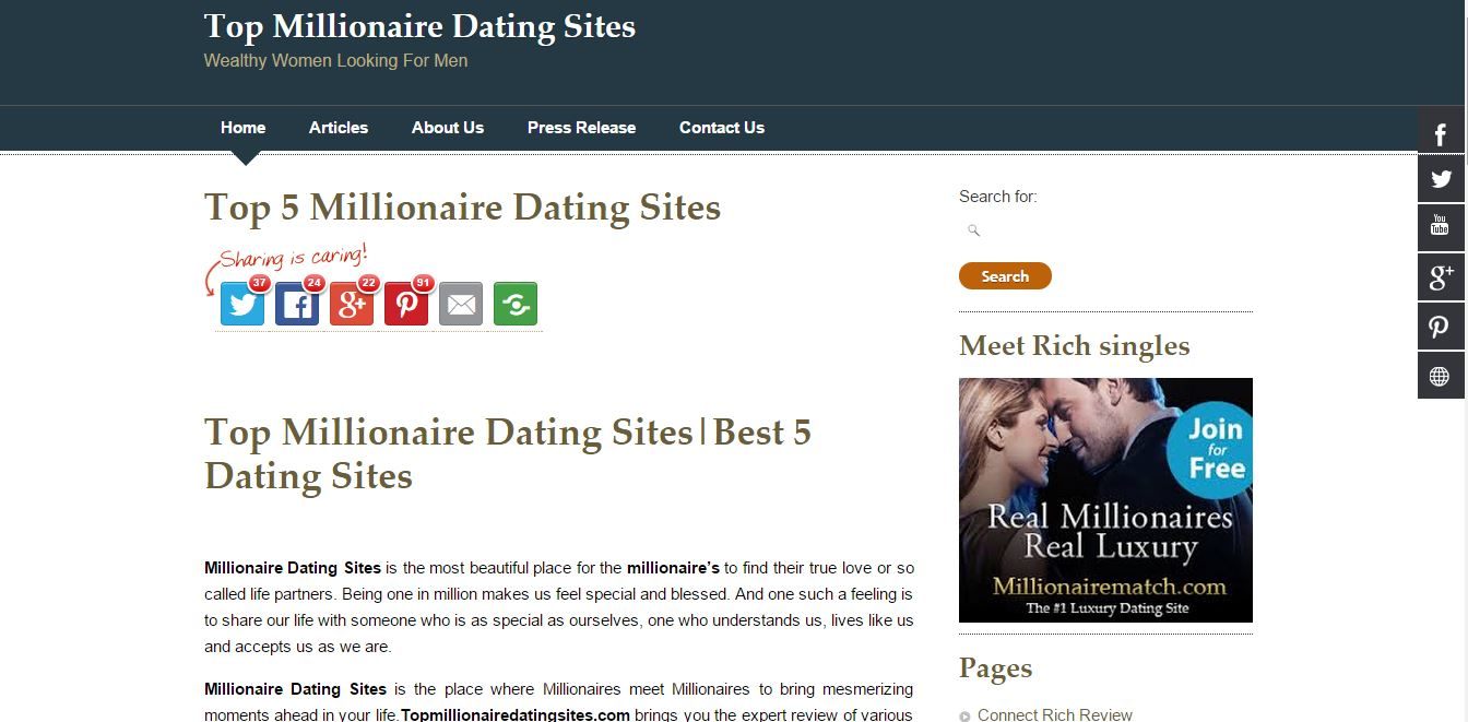Best dating site for millionaires