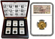 International Precious Metals Presents Elite 12 Coin Sets in Beautiful Wooden Box Display.