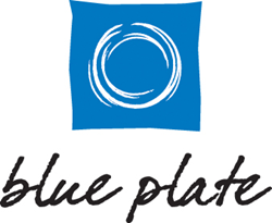 Logo for Blue Plate Chicago catering company