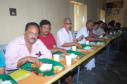 INF Staff Participating in Checking the quality of Food Served during Godavari Pushkarams