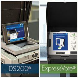 The DS200 in-precinct scanner and ExpressVote Universal Voting System
