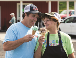 Dairy farmers Chuck and Paula Fry, owners of Rocky Point Creamery, featured on Maryland's Best Ice Cream Trail.