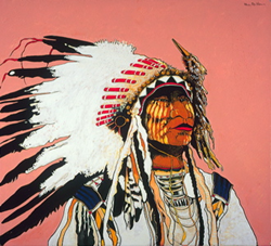 Meet Native American Artist Kevin Red Star at Sorrel Sky During...