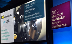 eLogic and manufacturer Kennametal demo productivity solution at Microsoft WPC 2015