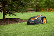 WORX Landroid avoids obstacles, such as trees  and flower beds.