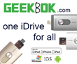 GeekBok.com Introduces the Revolutionary iDrive, Compatible with Apple & Android Devices
