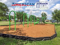 City of Manor Texas get new playground equipment from American Parks Company