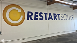 Restart Solar Hand Painted Mural Los Angeles