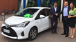 Green Motion car hire celebrates the arrival of its first customer at Helsinki Vantaa Airport