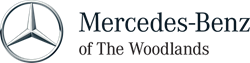 This image is a logo of Mercedes Benz of The Woodland, the leader in new and used luxury cars, service and maintenance.