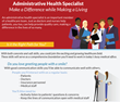 Porter and Chester Institute Creates Infographic about the Administrative Health Specialist Career