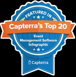 Capterra Top 20 Event Management Software Badge