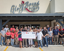 Glory Bound Gyro Co. Grand Opening, Ribbon Cutting, & Check Presentation