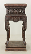 Chinese Carved Zitan Stand