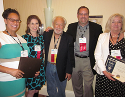 Patricia Garcia, Marcie Geffner, Lew Sichelman, Jay McKenzie and Camilla McLaughlin at the NAREE 65th Annual Journalism Awards in Miami, Fla.