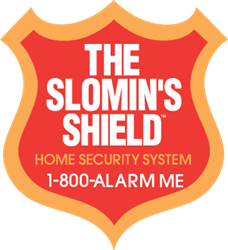 Slomin's shield home security logo
