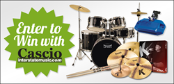 Enter to win drum & percussion gear from Cascio Interstate Music. Check out all of our contests here: http://www.interstatemusic.com/contest