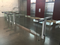 Fastlane Glassgate 300 barrier turnstile installed