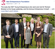 Our founder with fellow NEF candidates and Richard Branson