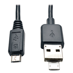 tripp lite cable with retractable micro-b connector image