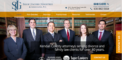 New website for Kendall County Family Law Firm Shaw, Jacobs, Goostree & Associates, P.C.