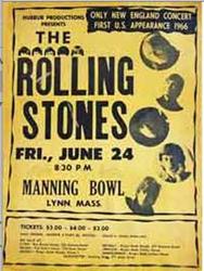 Original 1966 Rolling Stones Lynn Massachusetts Manning Bowl Concert Posters