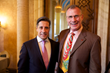 MIAMI Association of Realtors Chairman John Dohm with Miami-Dade Schools Superintendent Alberto Carvalho at Realtor Event