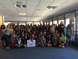 CREW New York mentors supported young ladies from the Bella Abzug Leadership Institute with a hands-on education session and $3,500 donation to the summer program.