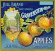 Gravenstein apples box label