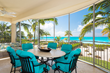 Screened in patios offer ample seating for families and friends.