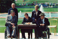 President Bush signs ADA 1990