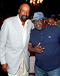 Coach Woodson and Cedric The Entertainer Hang out at the Coach Woodson Las Vegas Invitational Welcome Party