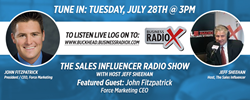 John Fitzpatrick to guest on Sales Influencer Radio Talk Show
