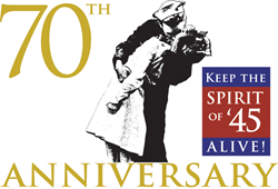 The 'Keep the Spirit of '45 Alive!' program logo