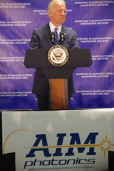 U.S. Vice President Joe Biden announcing the American Institute for Manufacturing Integrated Photonics