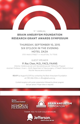 9th Annual Brain Aneurysm Foundation Research Grant Award Symposium