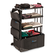 Travel Easier with the ShelfPack™, a New Kind of Luggage with Built-in Shelves.