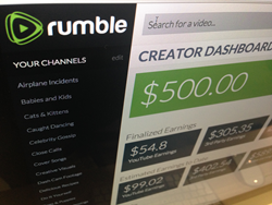 An inner glimpse into Rumble's creator dashboard