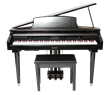 MDG-300 Black Micro Grand Digital Piano Cabinet size: 2'-4""
