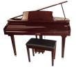 MDG-300 Red Micro Grand Digital Piano Cabinet size: 2'-4""