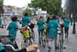 The team of young volunteers brought their message of drug-free living to people throughout Brussels.