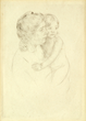 "Mary Cassett, ""Denise Holding Her Child"", Dry Point"