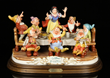 "Capodemonte ""Walt Disney's Snow White and the Seven Dwarves"" Figural Group"